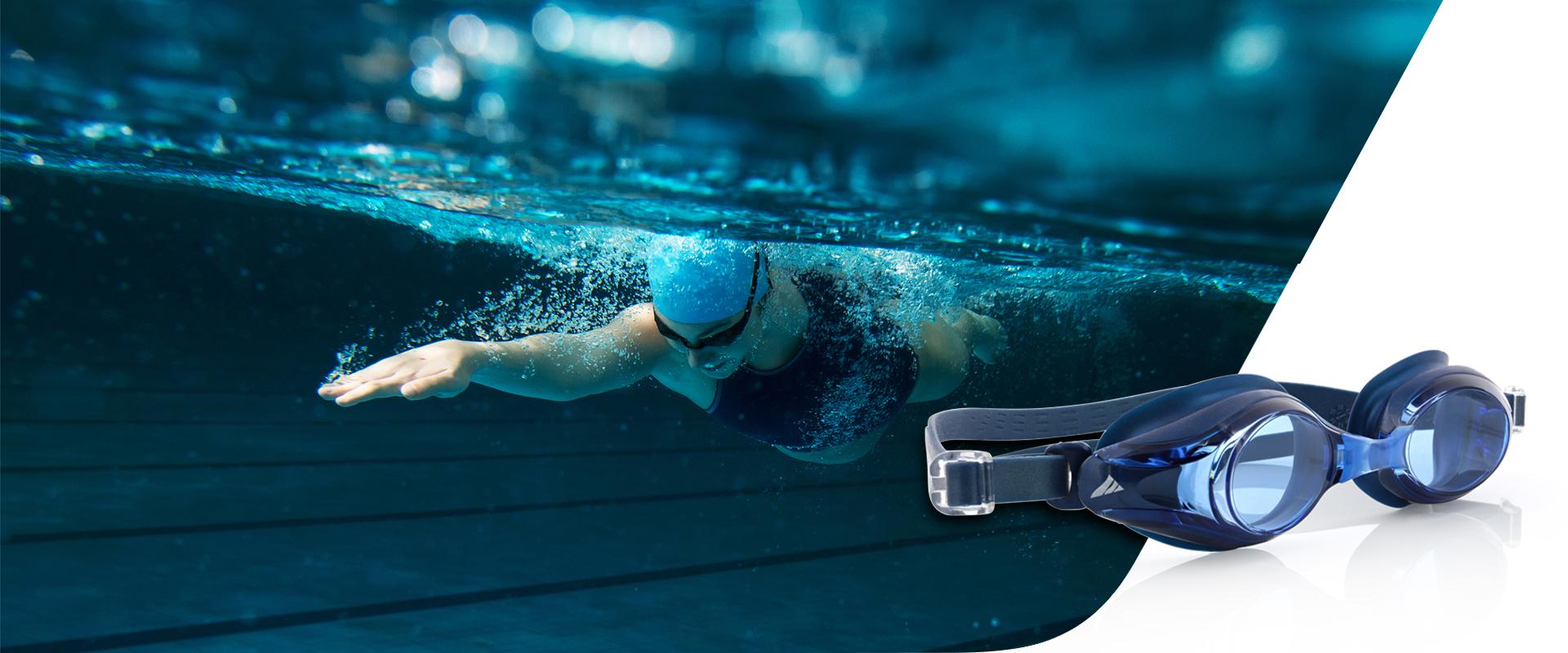 Demetz lunettes natation V500 platina